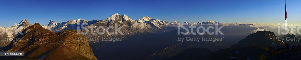 Eiger at Sunset stock photo