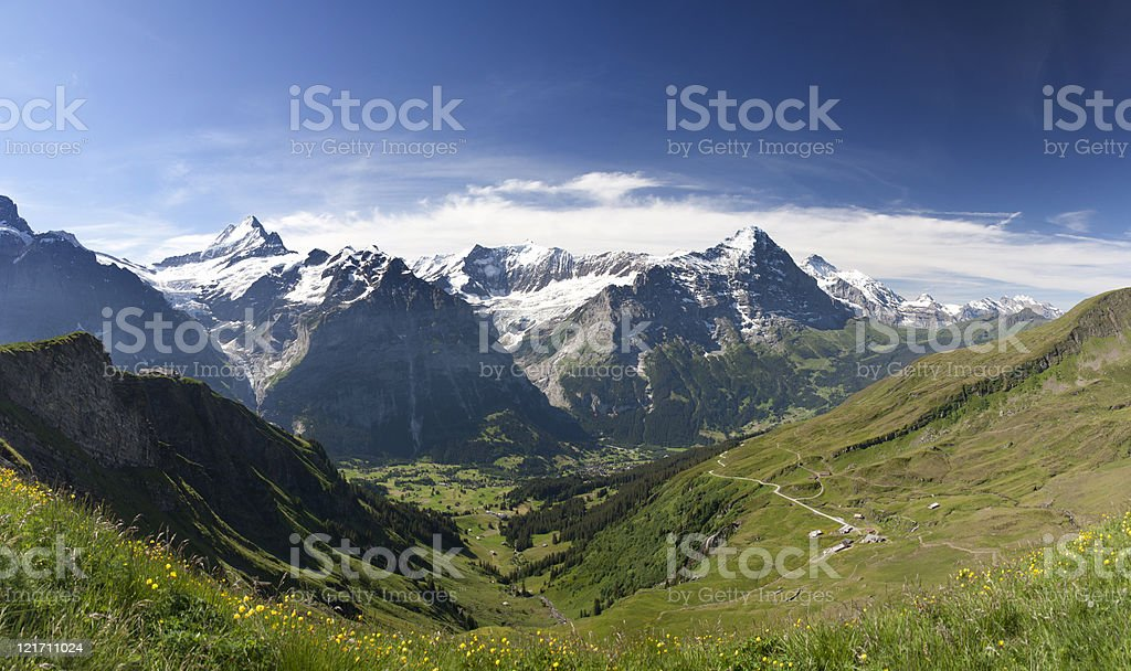 Eiger in Alps, Switzerland stock photo