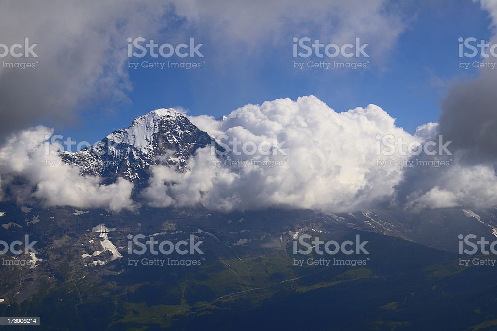Eiger in Clouds royalty-free stock photo