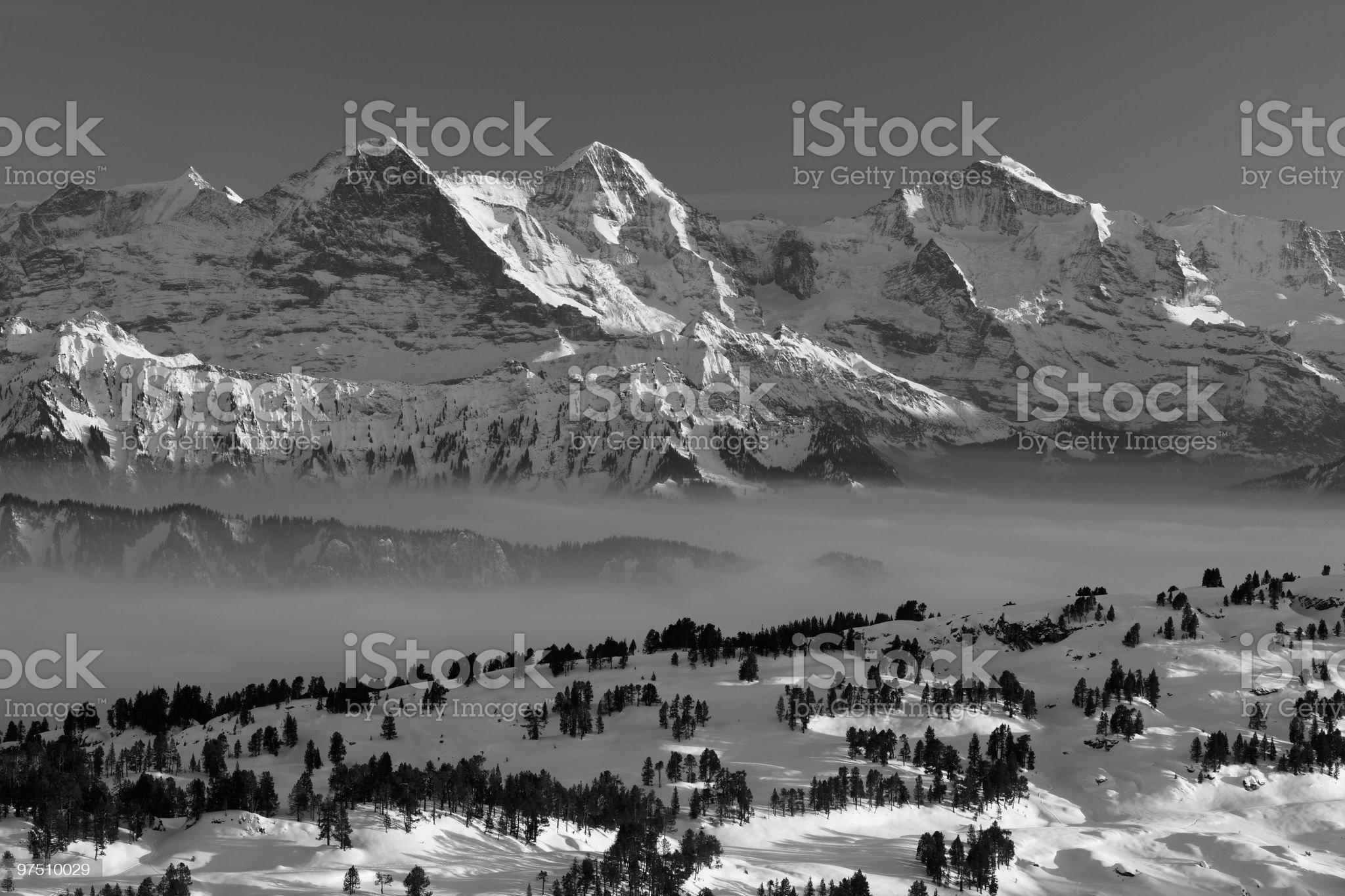 Eiger, M?nch & Jungfrau royalty-free stock photo
