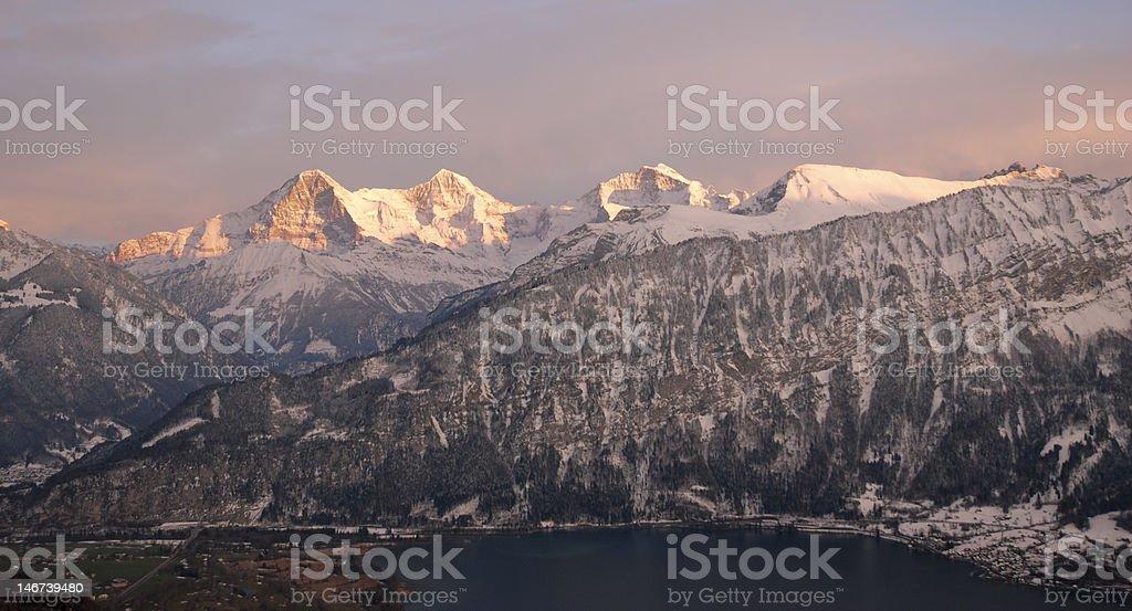 Eiger, Mönch und Jungfrau stock photo