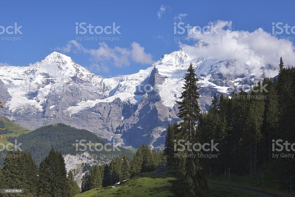 Eiger, Monch, and Jungfrau royalty-free stock photo