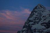 Eiger mountain during sunset, Jungfrau region