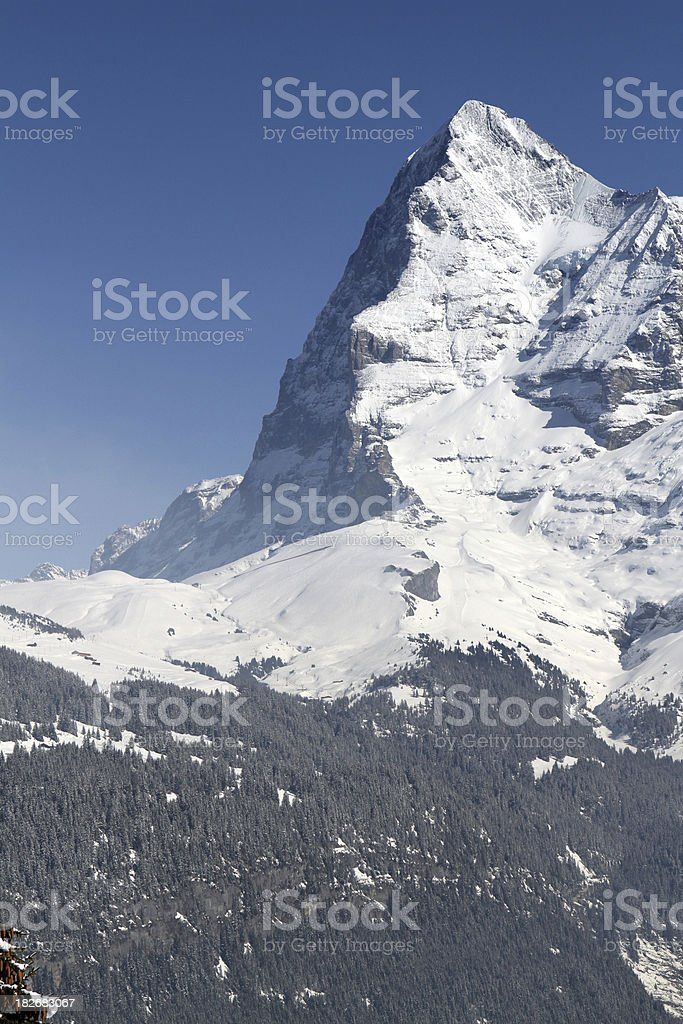 Eiger mountain in the Swiss Alps, Switzerland royalty-free stock photo