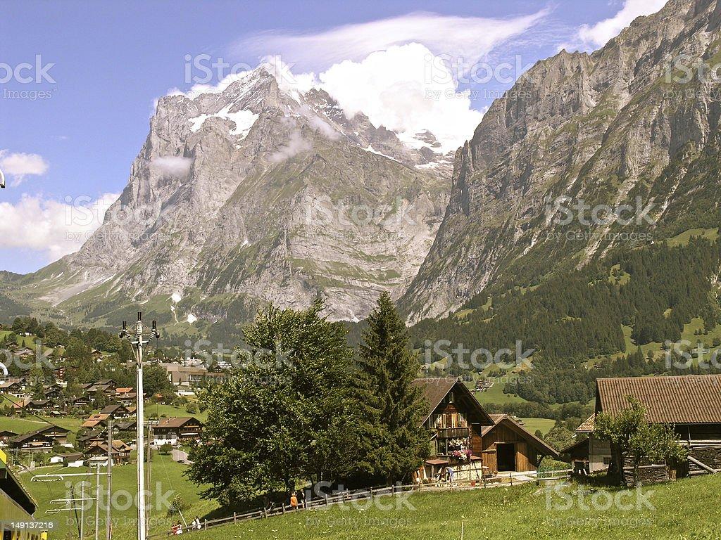Eiger Mountain Range royalty-free stock photo