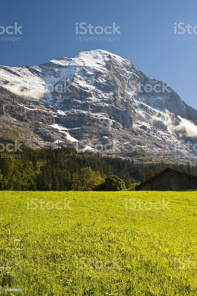 Eiger Nordwand, Swiss Alps royalty-free stock photo