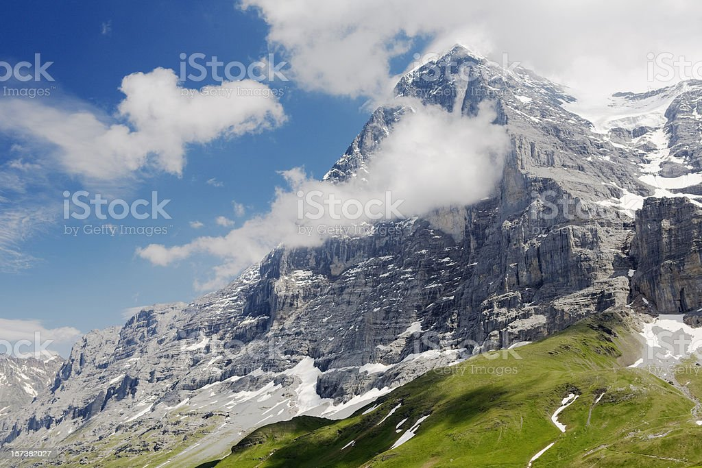 Eiger North Face, Switzerland stock photo