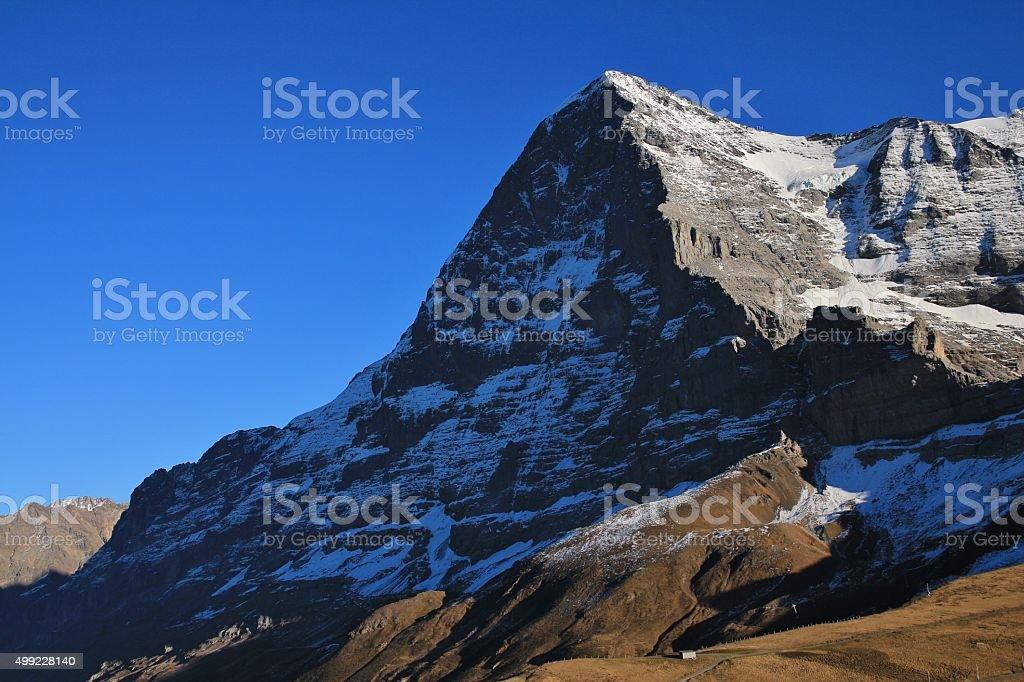 Eiger North Face, view from Kleine Scheidegg stock photo