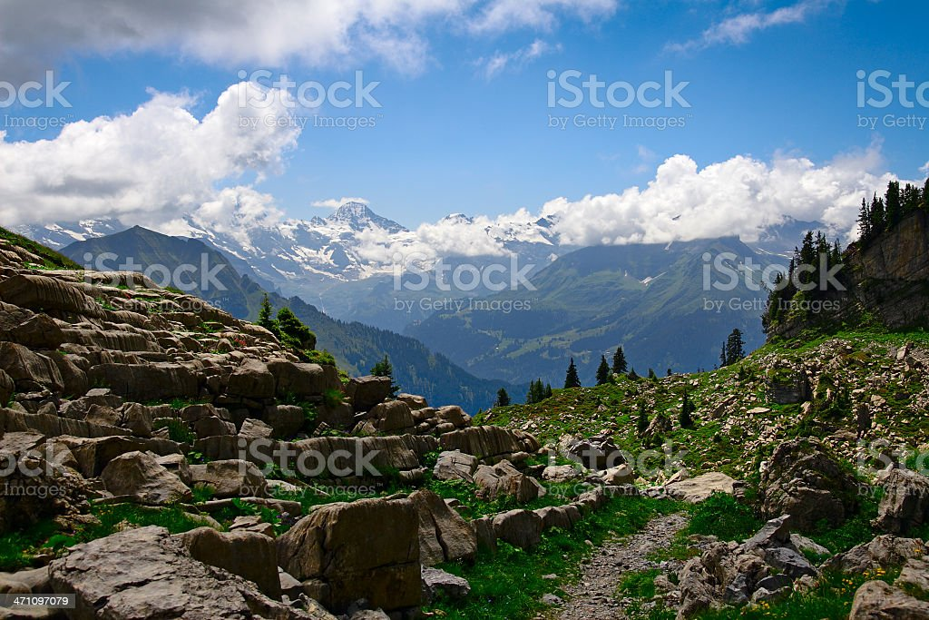 Eiger royalty-free stock photo