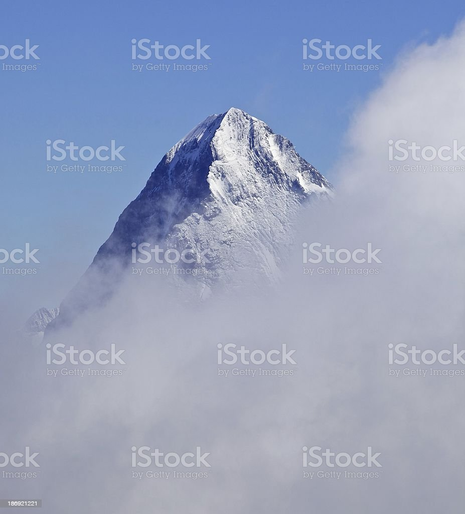 Eiger summit stock photo