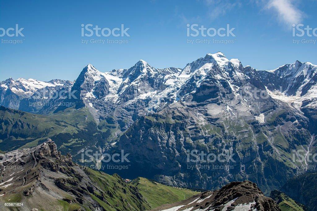 eiger, swiss alps, switzerland stock photo