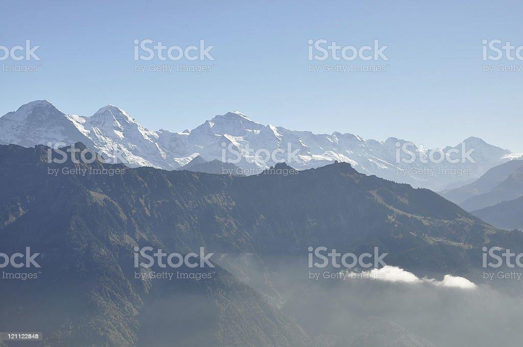 Eiger-Monch-Jungfrau royalty-free stock photo