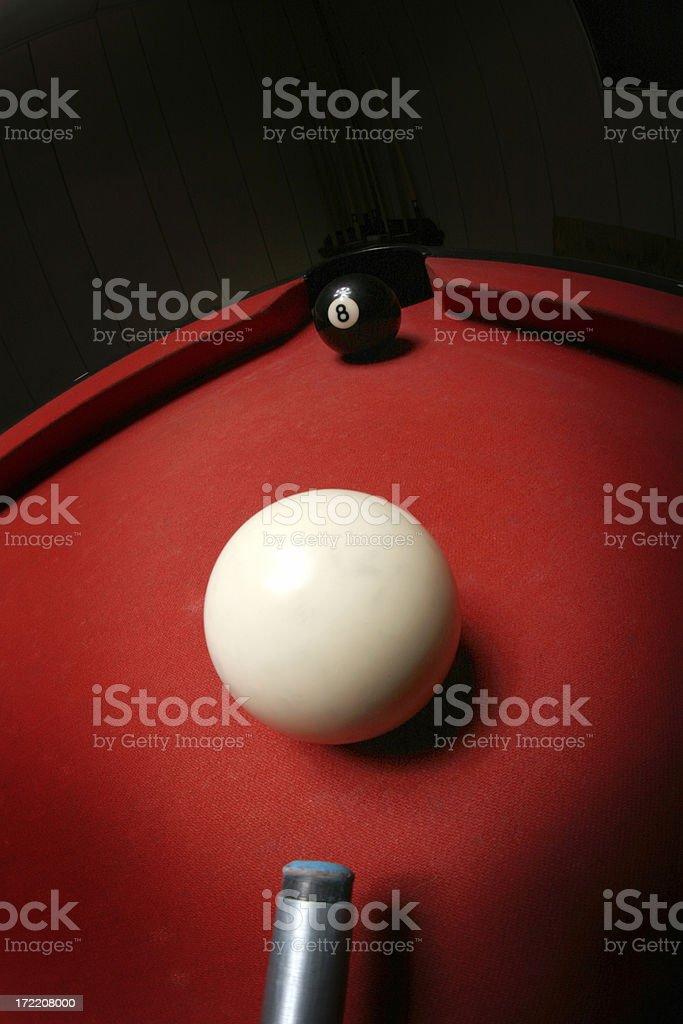 Eight Ball, Corner Pocket royalty-free stock photo