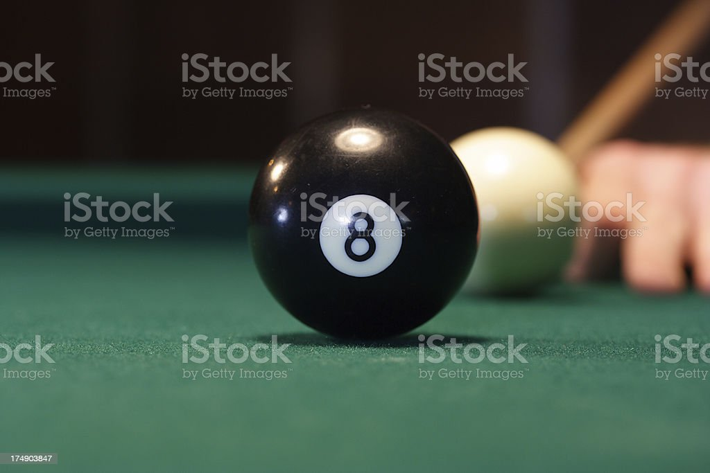 Eight Ball Corner Pocket royalty-free stock photo