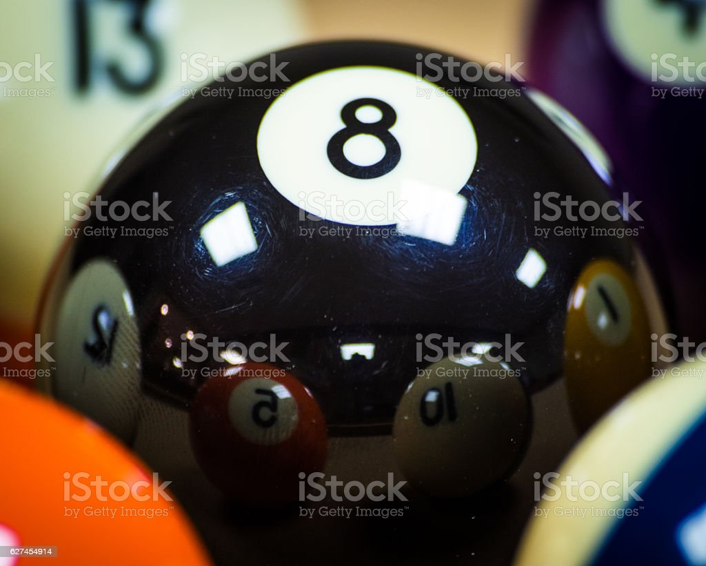 Eight Ball isolated stock photo