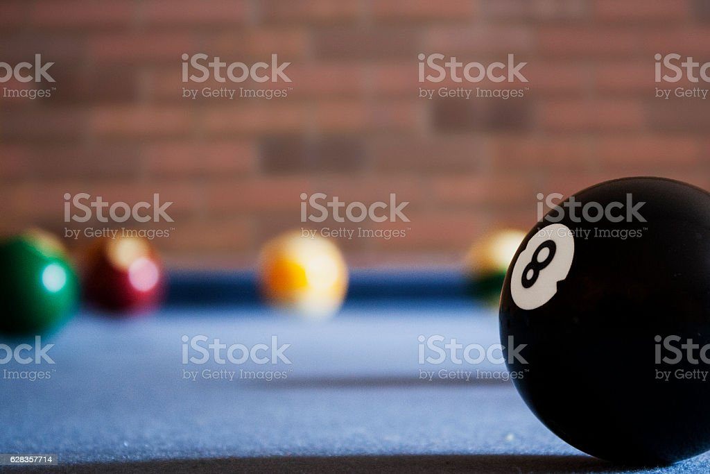 Eight Ball Lined Up stock photo