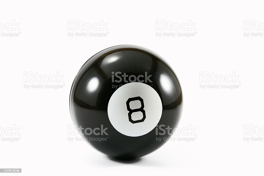 eight ball on white stock photo