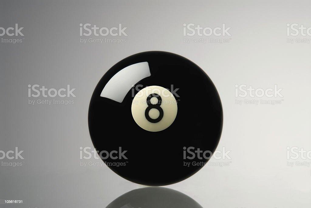 Bola de billar 8 foto de stock libre de derechos