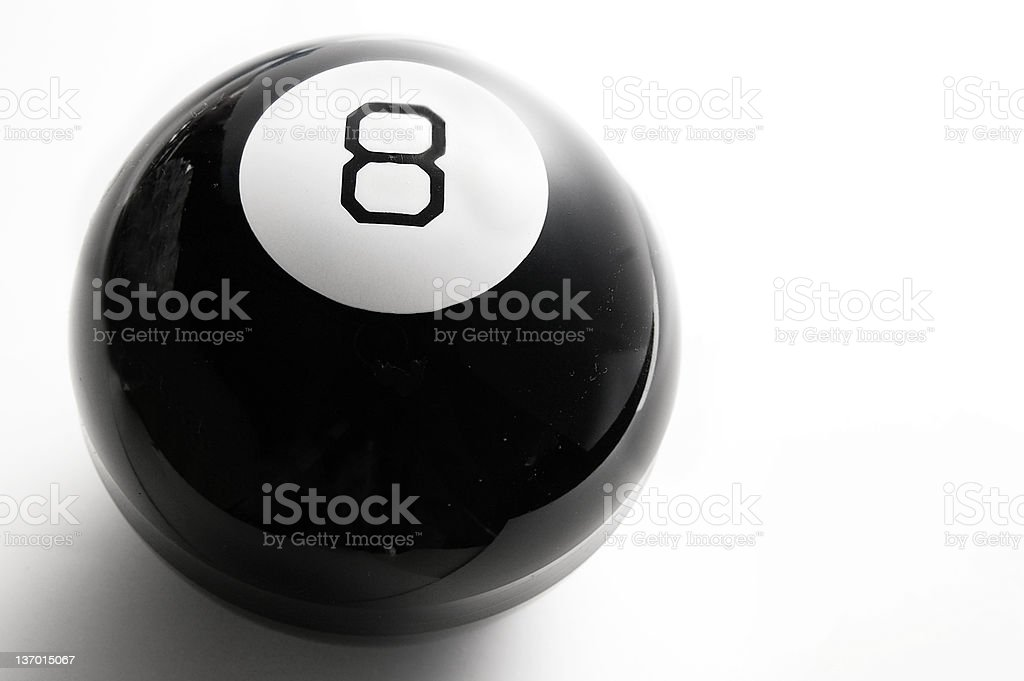 eight ball stock photo