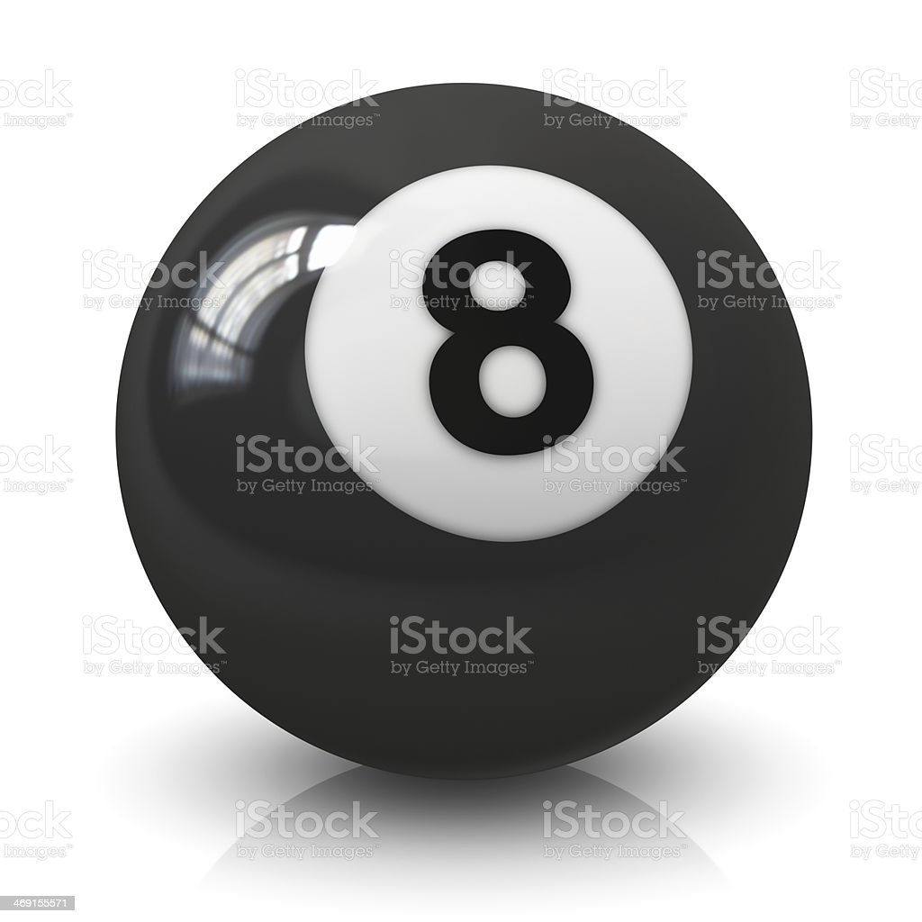 Eight billiard ball stock photo