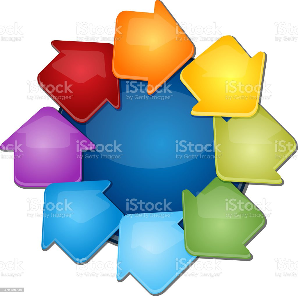 Eight Blank cycle business diagram illustration stock photo