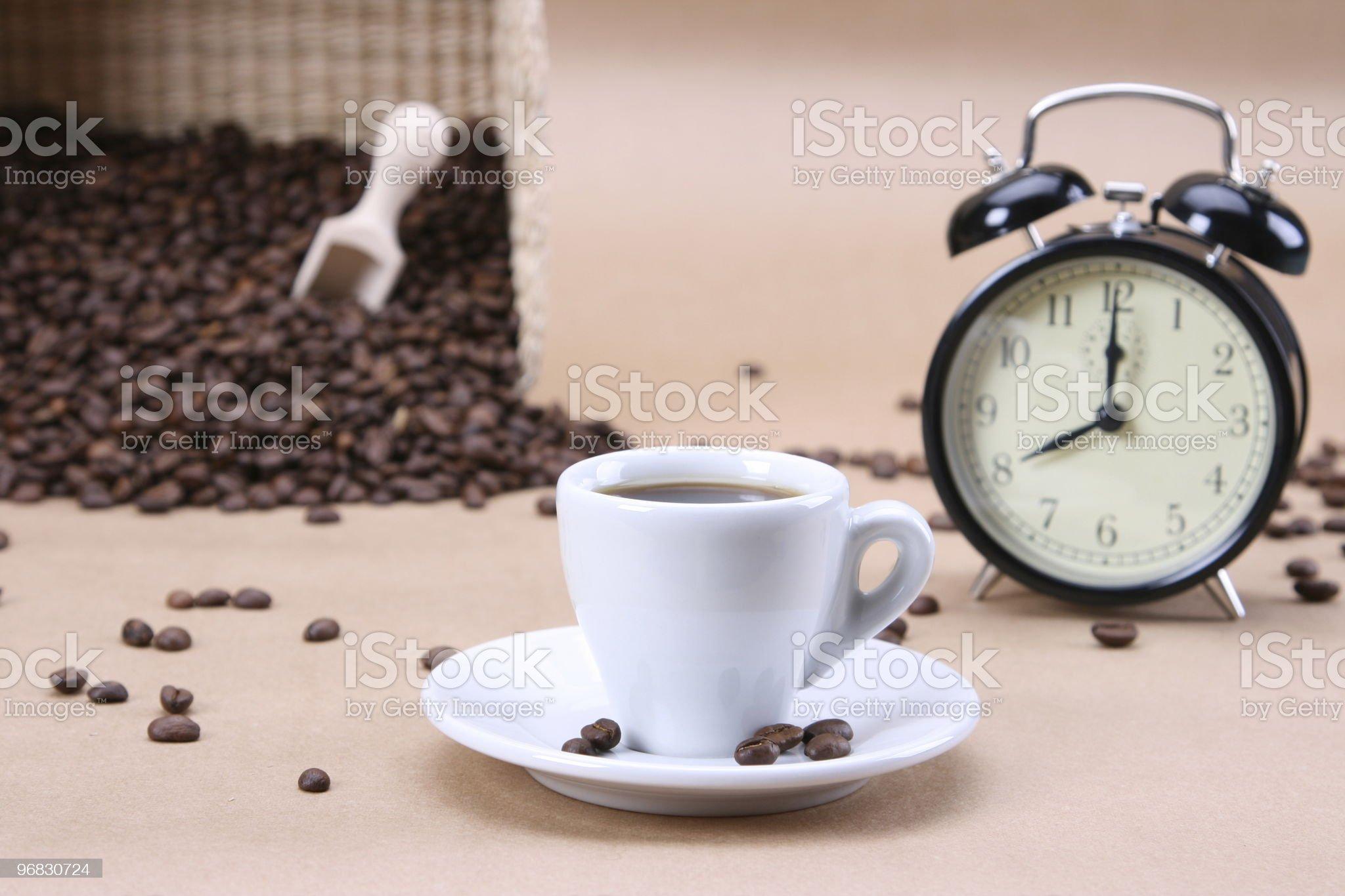 Eight Clock Coffee Morning royalty-free stock photo