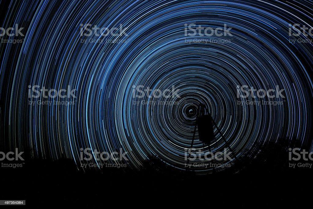 Eight Hours of Starlight stock photo