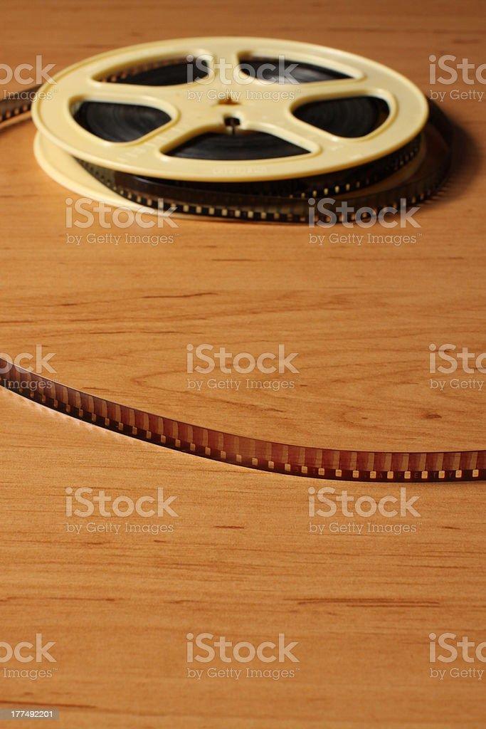 Eight millimeter film royalty-free stock photo