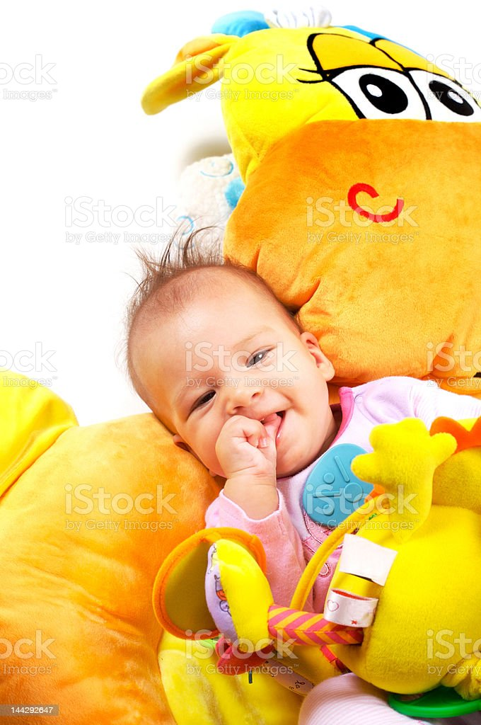 Eight months old baby girl royalty-free stock photo