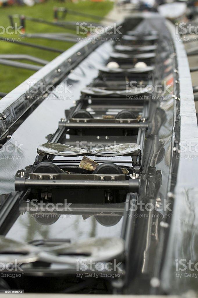 Eight Oar Boat Docked royalty-free stock photo