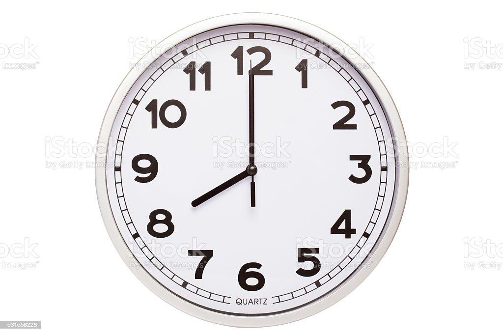 eight o'clock stock photo