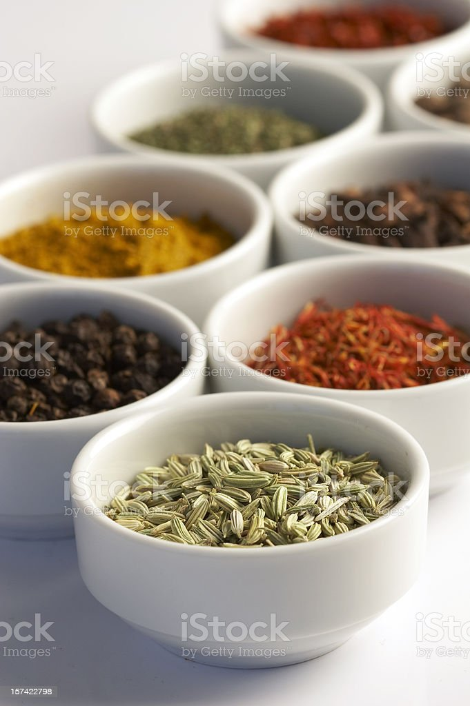 eight spices royalty-free stock photo