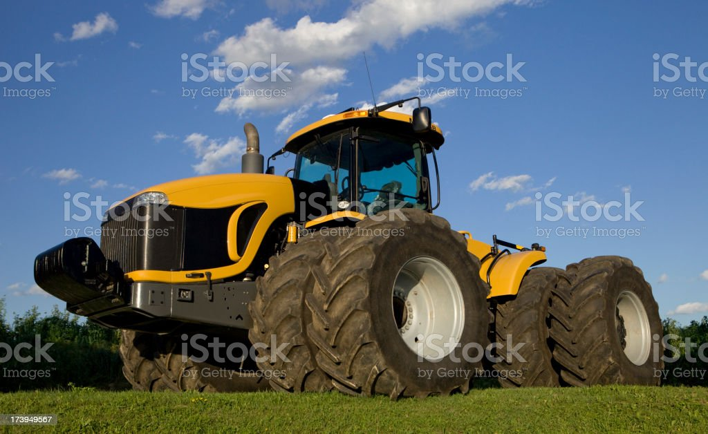 Eight Tire Tractor stock photo