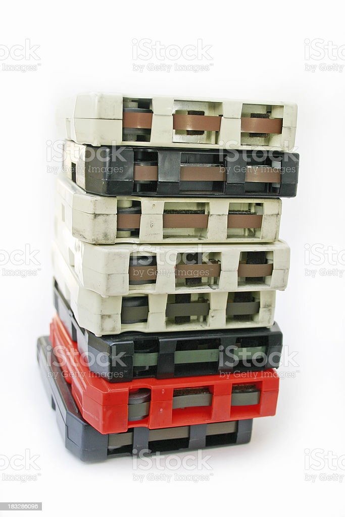 Eight Track Tape Stack royalty-free stock photo