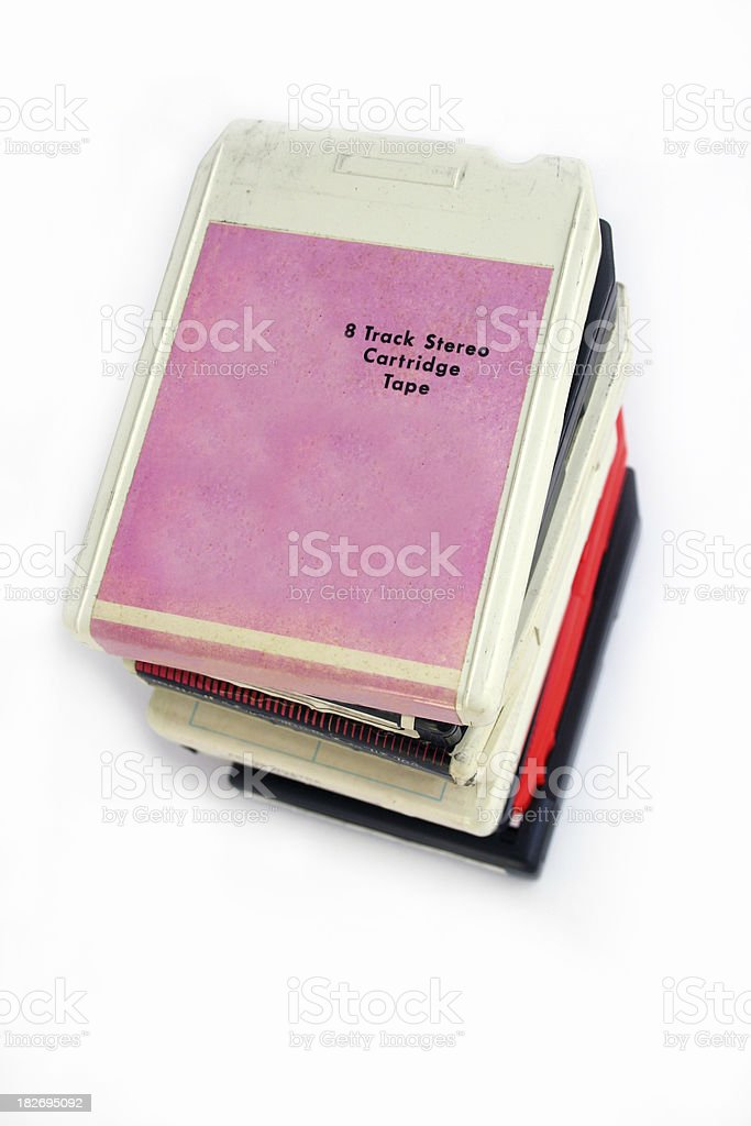 Eight Track Tapes royalty-free stock photo