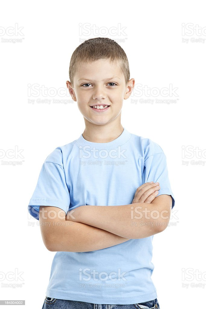 eight years old boy royalty-free stock photo