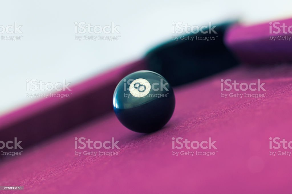 Eightball near the pocket stock photo