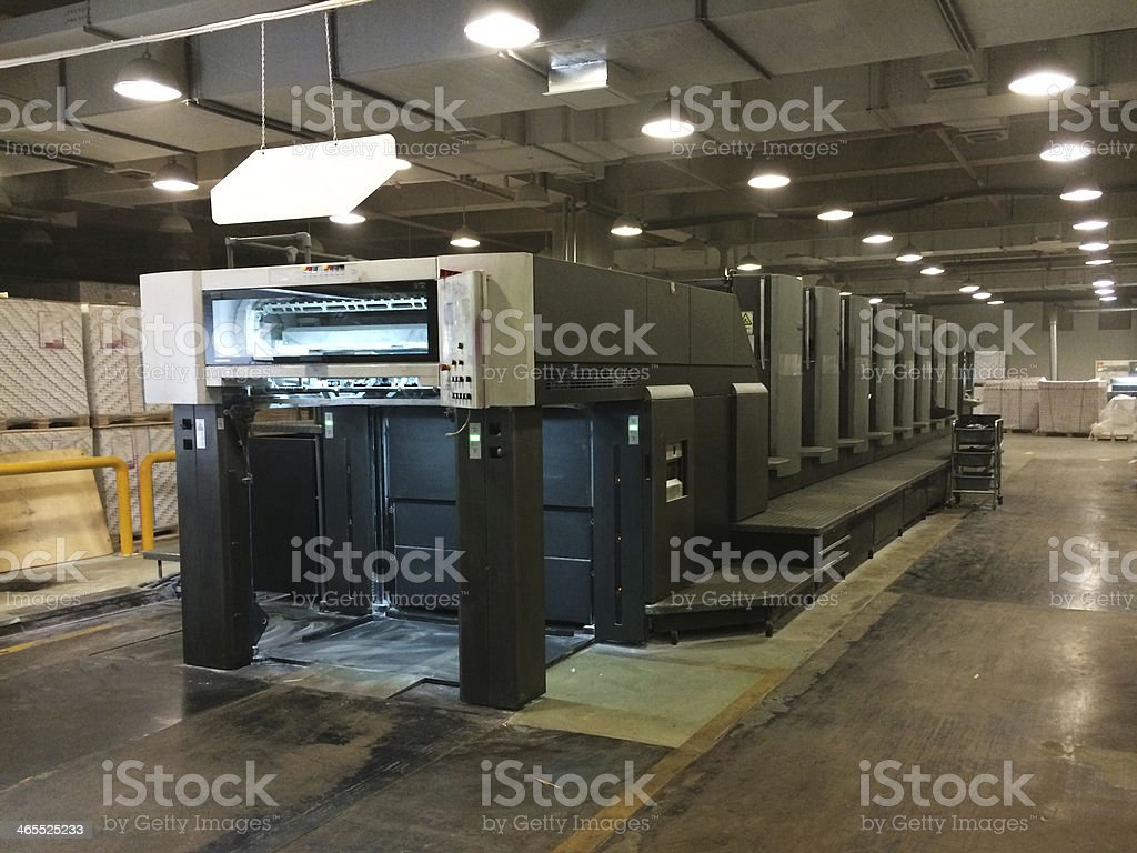 Eight-color printing presses royalty-free stock photo