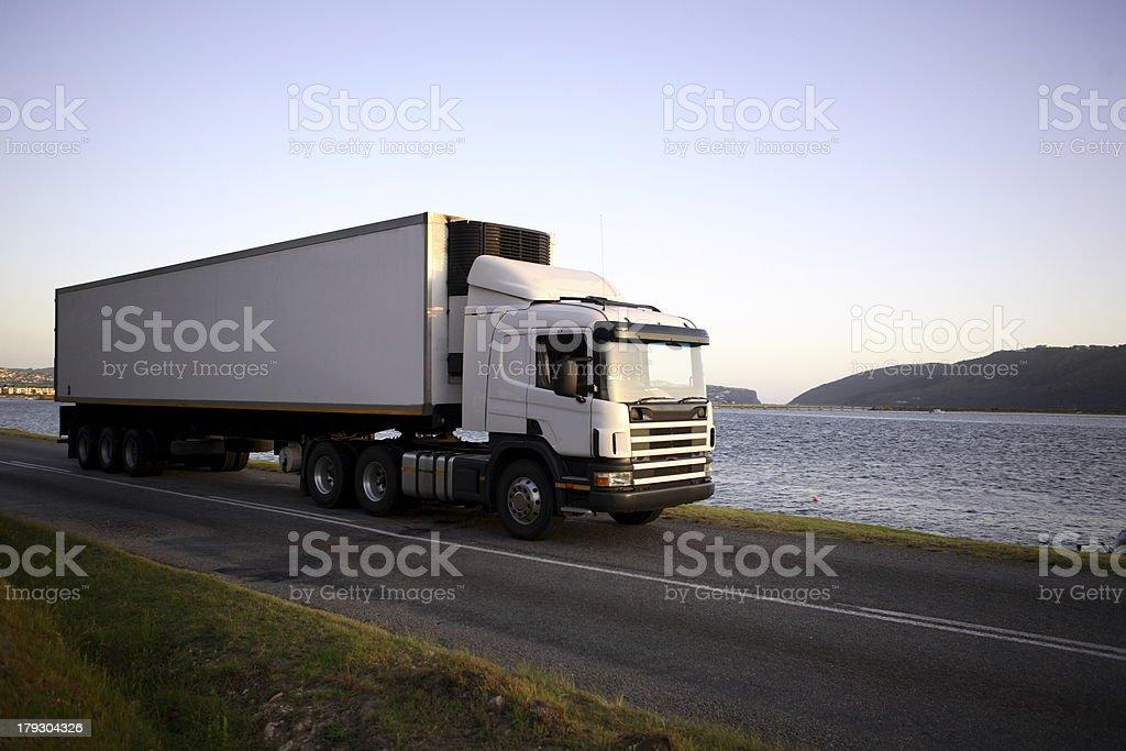 Eighteen wheeler stock photo