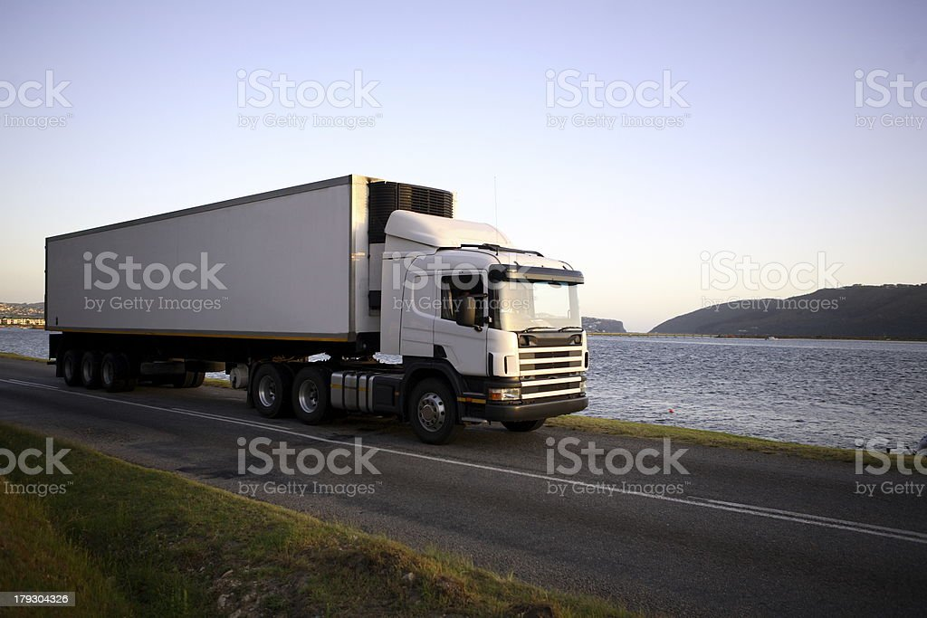 Eighteen wheeler stock photo