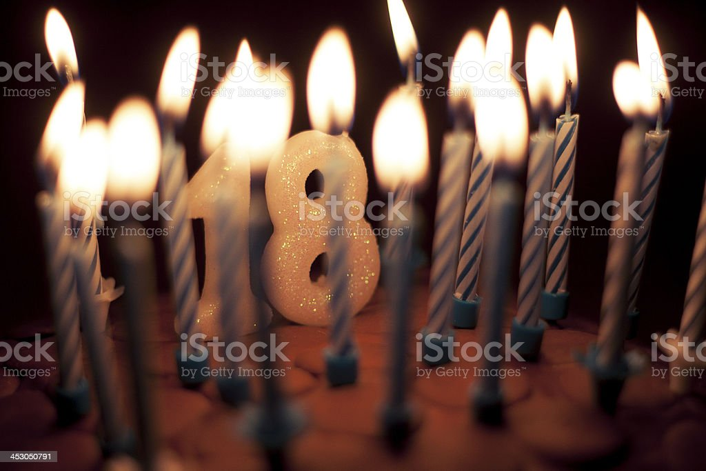 Eighteenth Birthday Cake stock photo