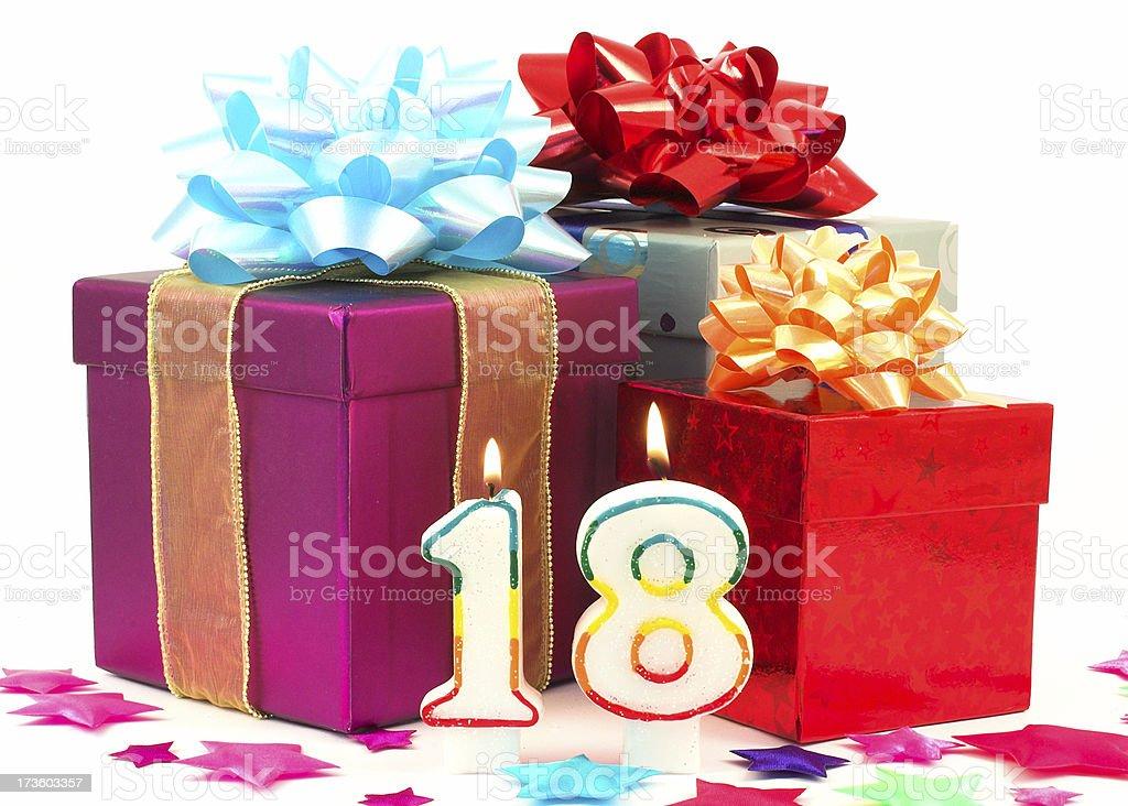 eighteenth birthday royalty-free stock photo