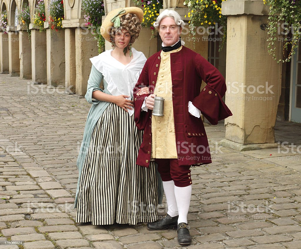 Eighteenth Century Couple stock photo