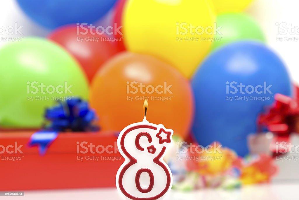 Eighth birthday royalty-free stock photo