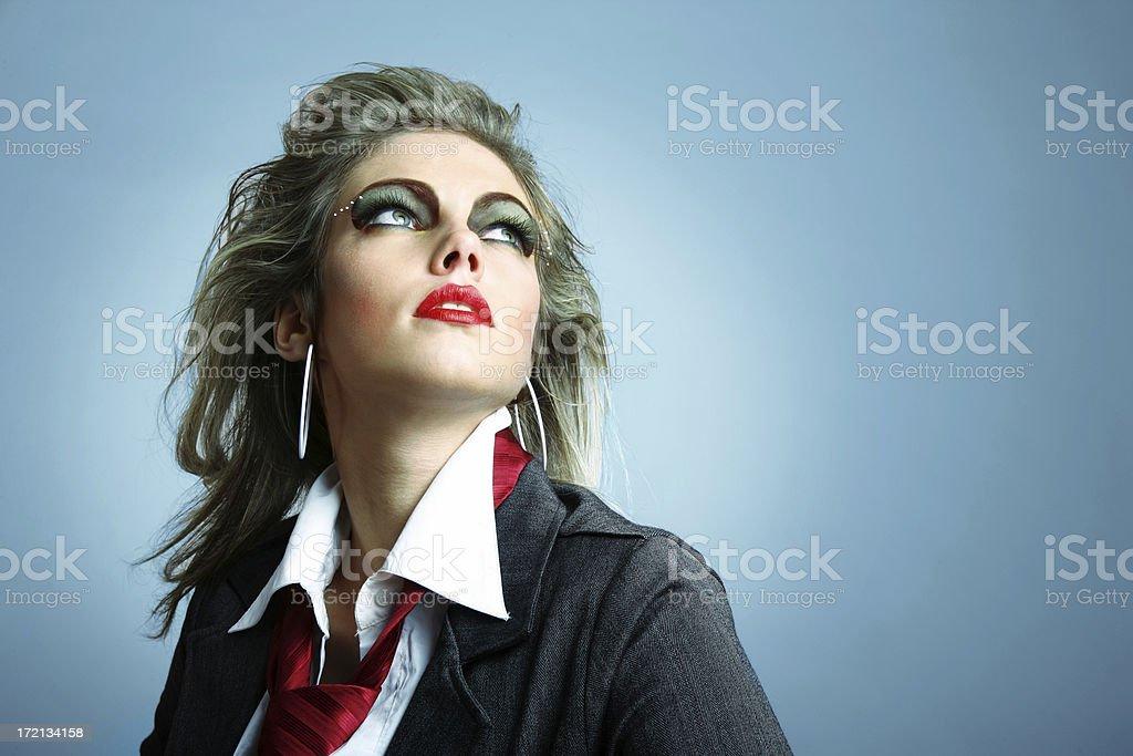 Eighties style Woman royalty-free stock photo