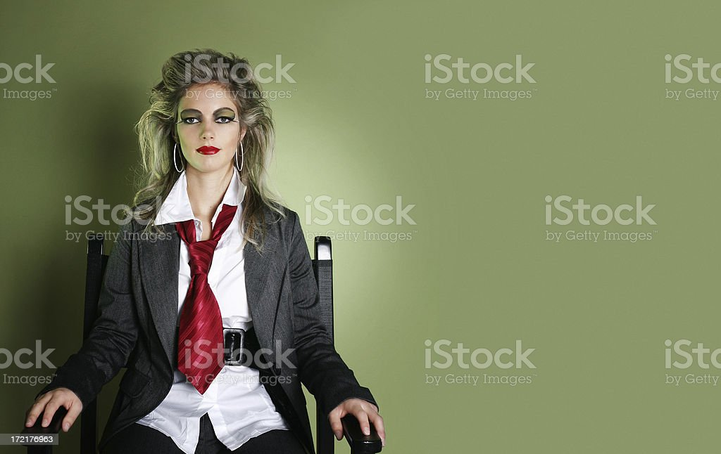 Eighties style woman royalty-free stock photo