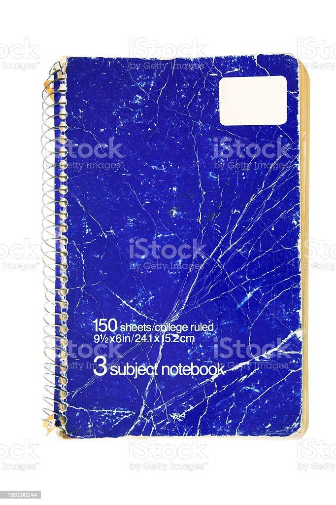 Eighties Three Subject Notebook stock photo