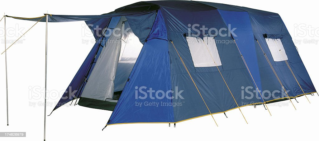 Eight-Person Family Tent, Camping and campsite stock photo