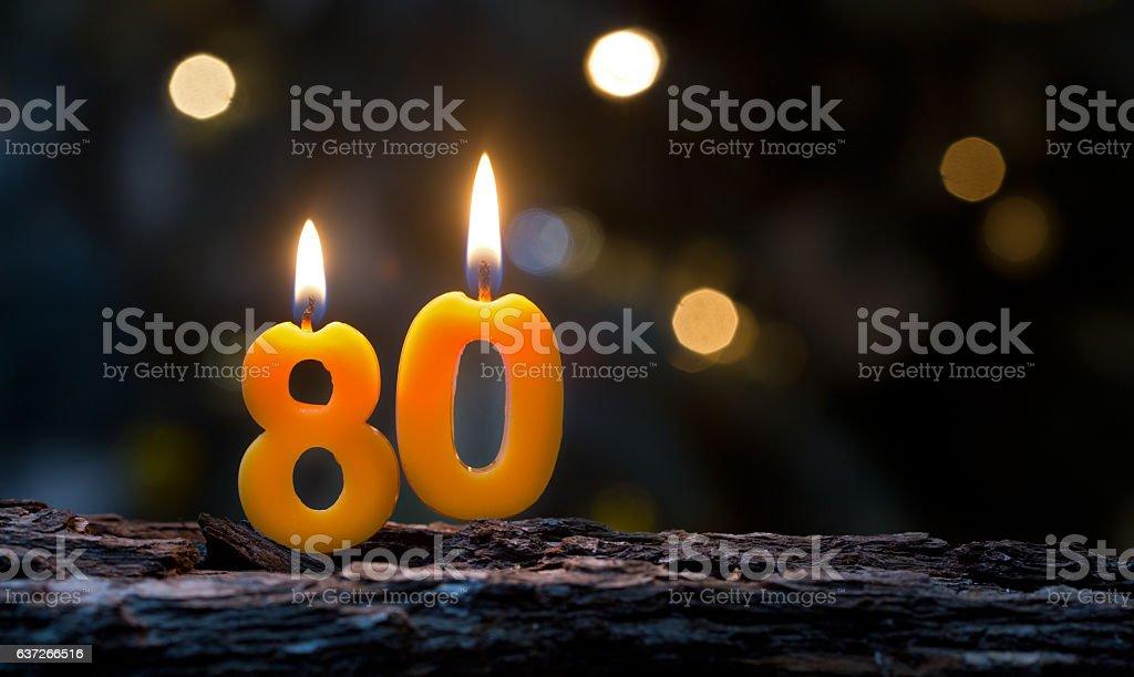 Eighty stock photo