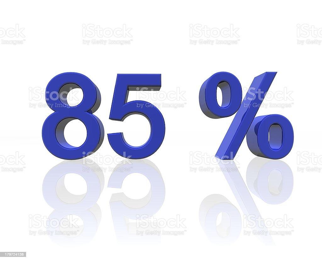 eighty-five percent stock photo